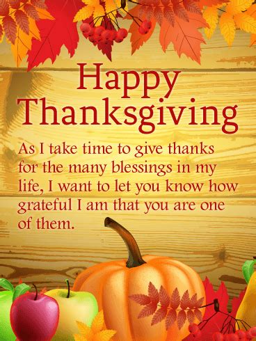 Thanks for the Many Blessings - Happy Thanksgiving Card