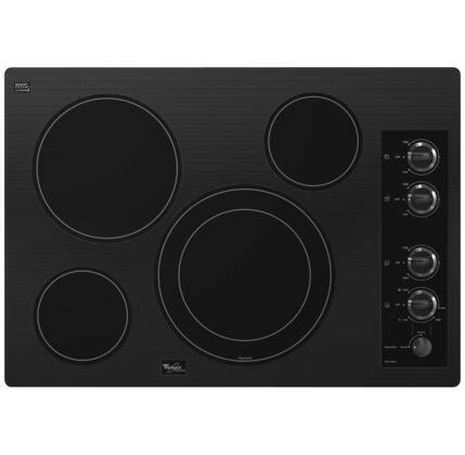 """Whirlpool G7CE3034X Gold 30"""" Smoothtop Electric Cooktop"""