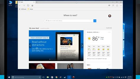 Windows 10 Tips - Microsoft Edge Browser Overview - YouTube