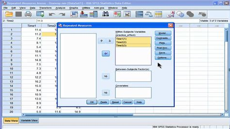Oneway Repeated Measures Anova - SPSS (part1) - YouTube
