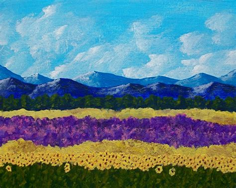 Mike Kraus: Field of Lavender and Sunflowers