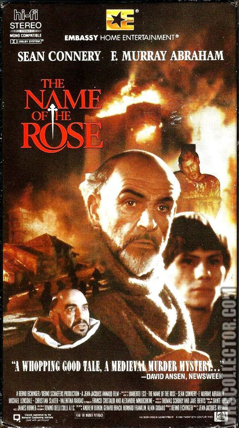 The Name of the Rose   VHSCollector