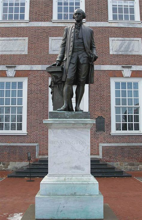Plaques and Statues in the Park - Independence National
