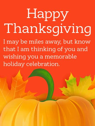 Thinking of You! Thanksgiving Card | Birthday & Greeting